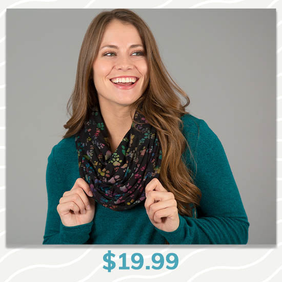 Paws & Love Infinity Scarf - $19.99