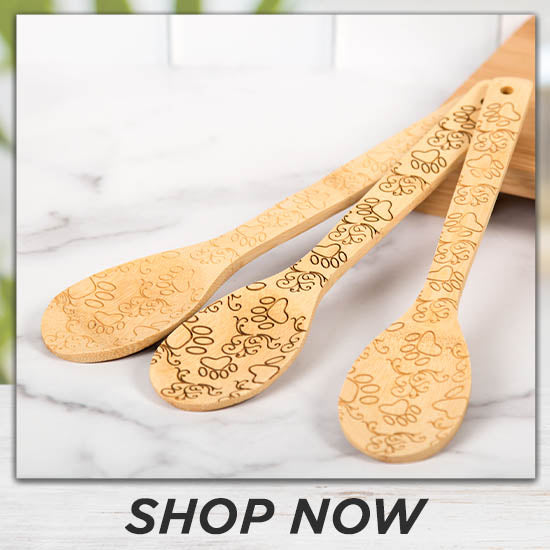 Bamboo Paws Serving Spoon Set - Shop Now