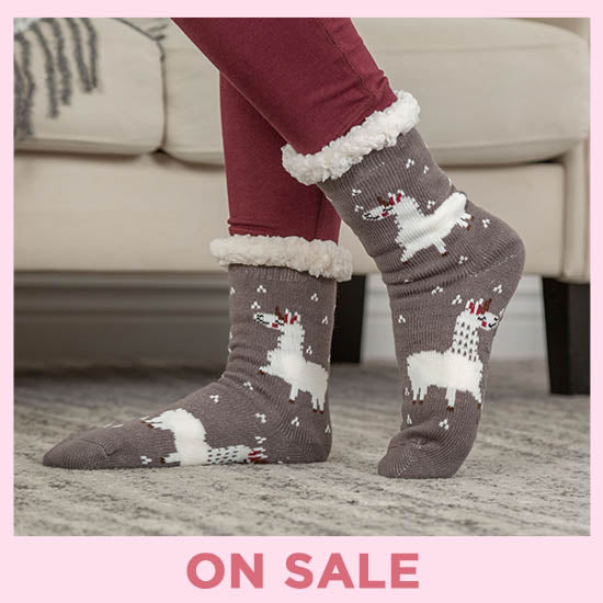 Cute Critters Knitted Slipper Socks - On Sale
