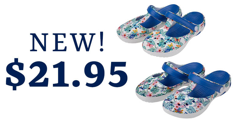 Tropical Delight Mary Jane Clogs | New | $26.95