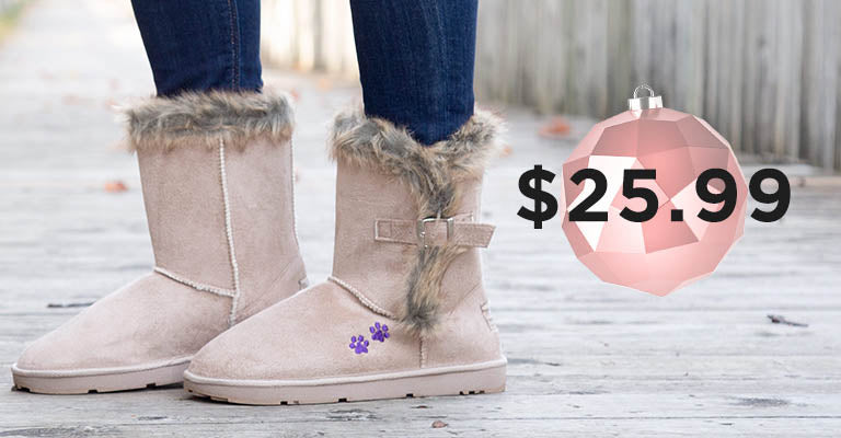 Purple Paw Classic Buckle Boot | $30