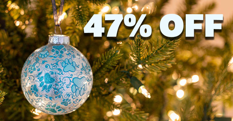 Frosty Blue Paws Ornament | 47% OFF