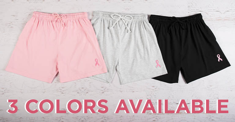 Pink Ribbon Women's Casual Shorts | 3 Colors Available