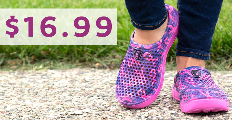 Pink Ribbon Pride Clogs for Women | $16.99