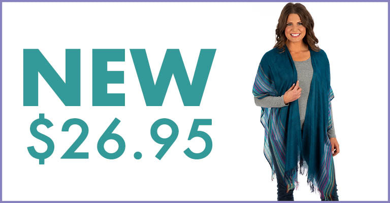 Handwoven Kimono Cover-Up | New! $26.95