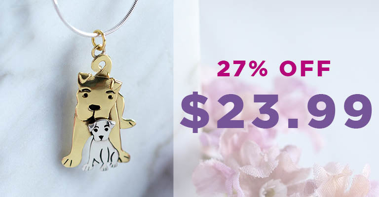 Mama Dog Love Mixed Metal Necklace   $23.99   27% OFF
