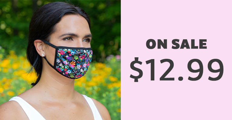 Paw Print Fashion Face Mask with Ear Loops | On Sale | $12.99