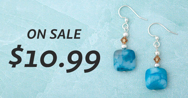Crazy Lace Agate Earrings | On Sale | $10.99