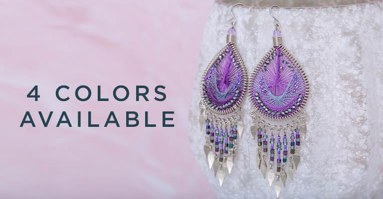Dazzling Chandelier Thread Earrings | 4 Colors Available