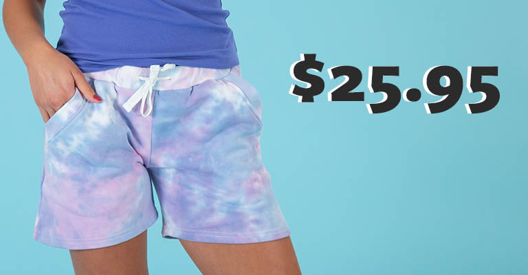 Pastel Tie-Dye Casual Shorts | $25.95