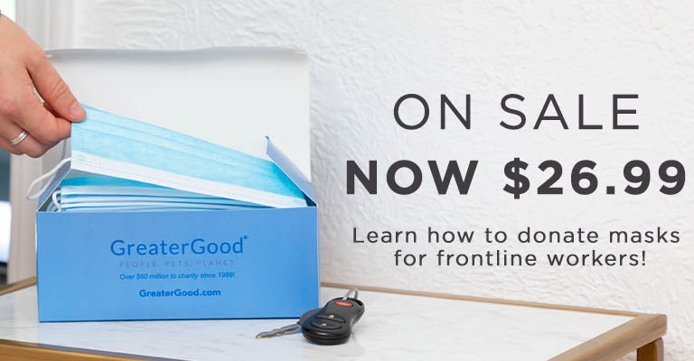 On Sale | Now $26.99 |  Learn how to donate masks to frontline workers!