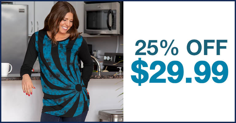Gone Spiral Long Sleeve Tunic