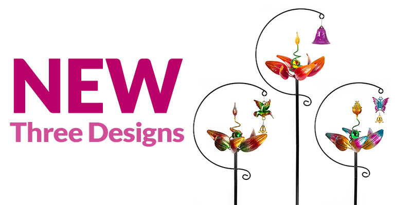 Spinning Petals Garden Stake | New | Three Designs