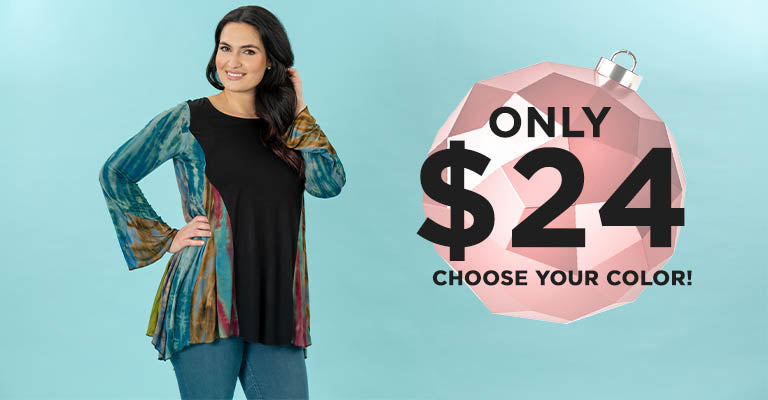 Perfectly Balanced Tie-Dye Long Sleeve Tunic   Only $24!   Choose your color!