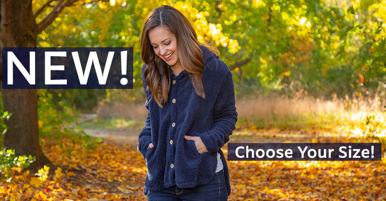 Babbling Brook Fleece Button Up Hoodie   New! Choose Your Size!