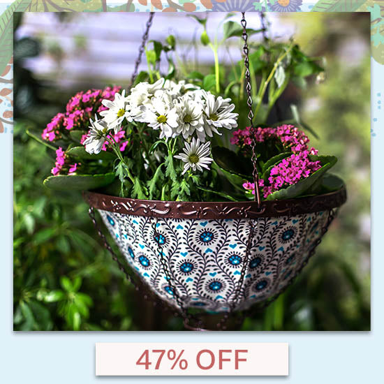 Pawsome Hanging Garden Art Basket - 47% OFF