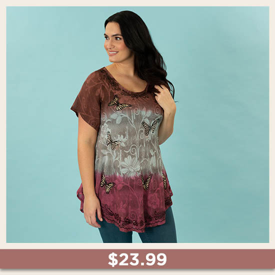 Butterflies at Play Tunic - $23.99