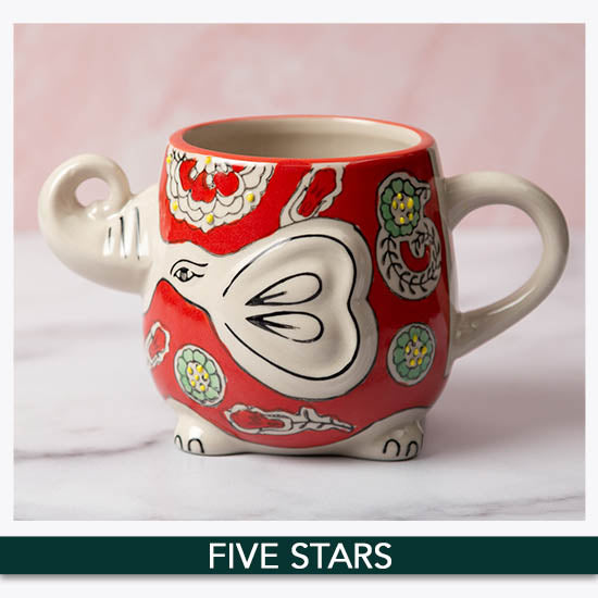 Elephant in the Garden Grande Mug - ★★★★★