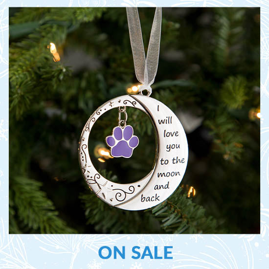 Love You to the Moon & Back Paw Ornament - On Sale