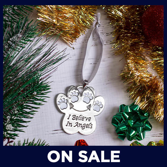 I Believe In Angels Halo Paw Ornament - On Sale