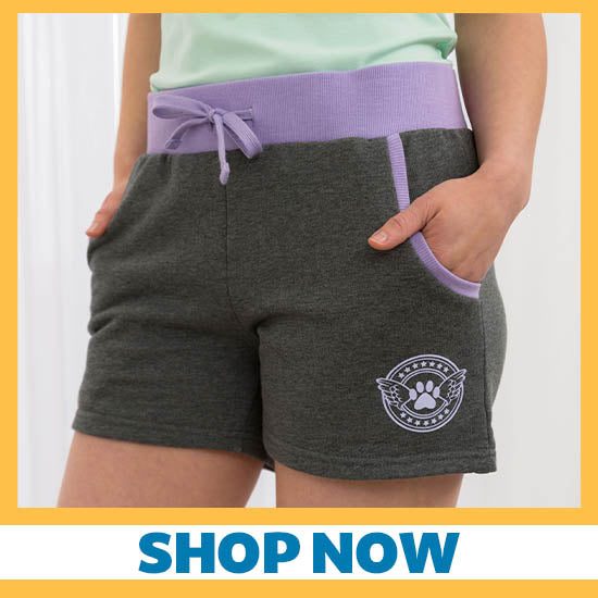 Angel Paw Two-Tone Shorts