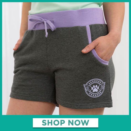 Angel Paw Two-Tone Shorts - Shop Now