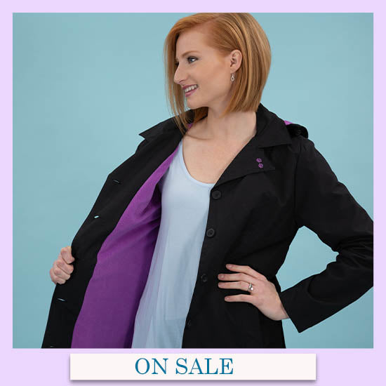 Paw Print Fleece Lined Rain Jacket - On Sale