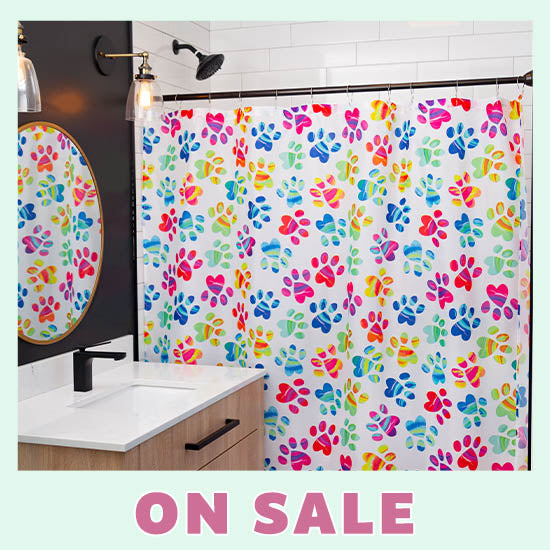 Painted Paws Shower Curtain - On Sale