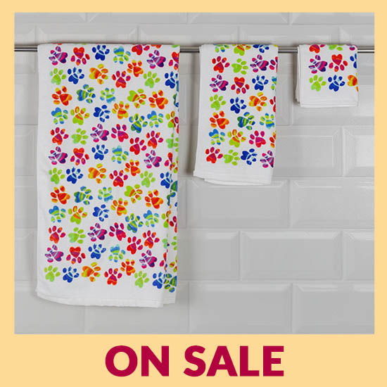 Painted Paws Bath Towel - On Sale