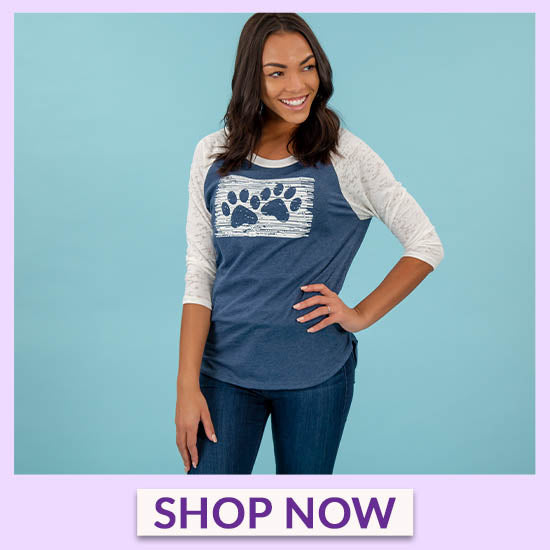 Two Paws Burnout Baseball Tee - Shop Now
