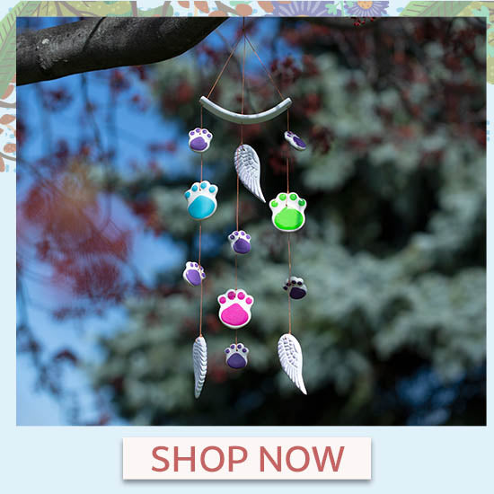 Paws of Love Ceramic Wind Chime