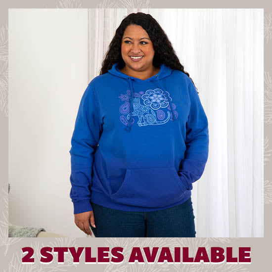 Paisley Pet Ombre Hoodie - 2 Styles Available