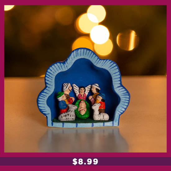 Hand-Painted Ceramic Nativity Ornament - $8.99