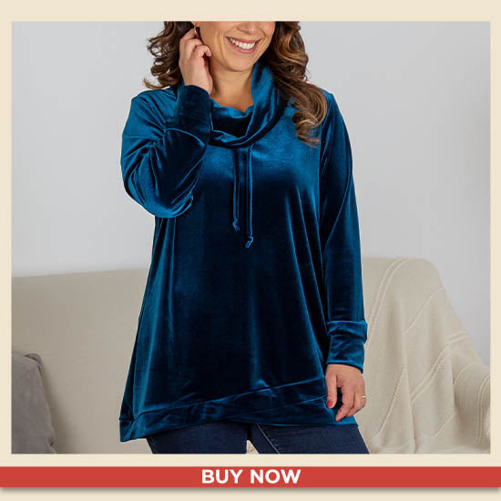 Let It Shine Cowl Neck Tunic - Buy Now