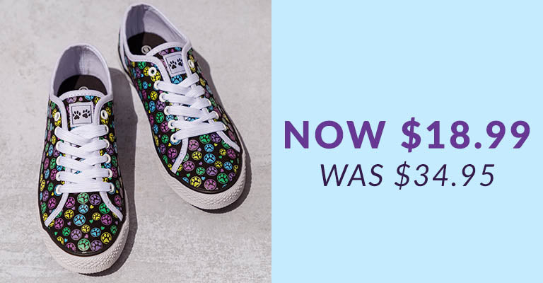 Animal Lover Sneakers | Was $34.95 | Now $18.99