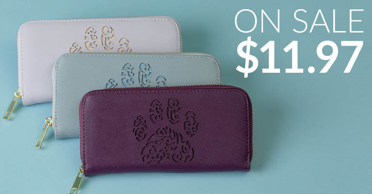 Pawsitively Beautiful Zipper Wallet | On Sale! | $11.97