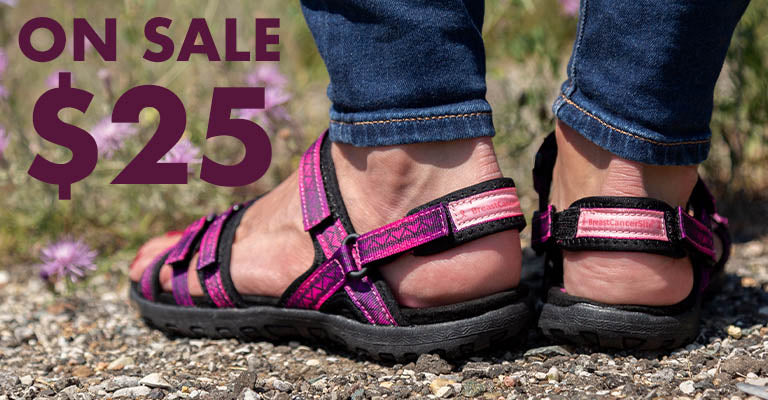 Ultralite™ Pink Ribbon Strappy Sport Sandals | On Sale | $25