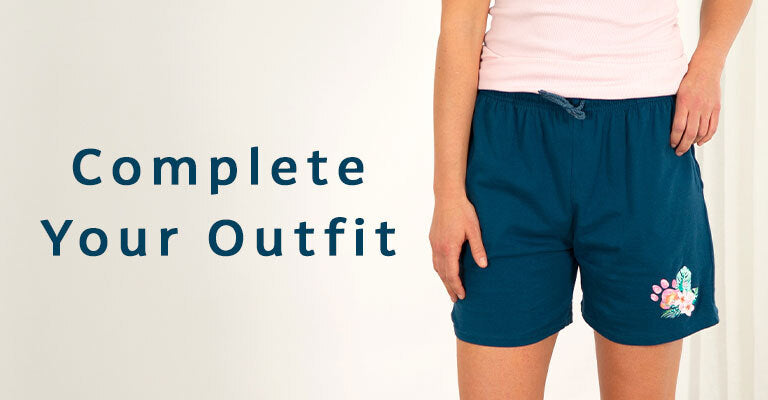Pawsitively Adorable Tropical Casual Shorts | Complete Your Outfit