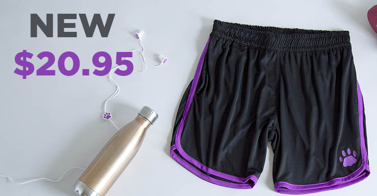 Paw Print Contrast Athletic Shorts | New | $20.95
