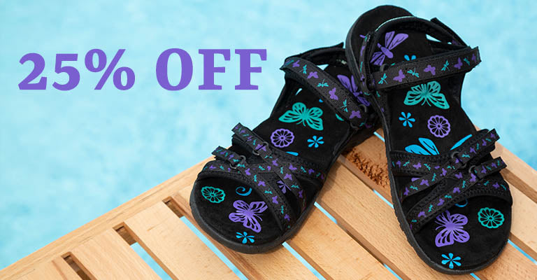 Ultralite™ Fluttering Friends Strappy Sport Sandals | 25% OFF