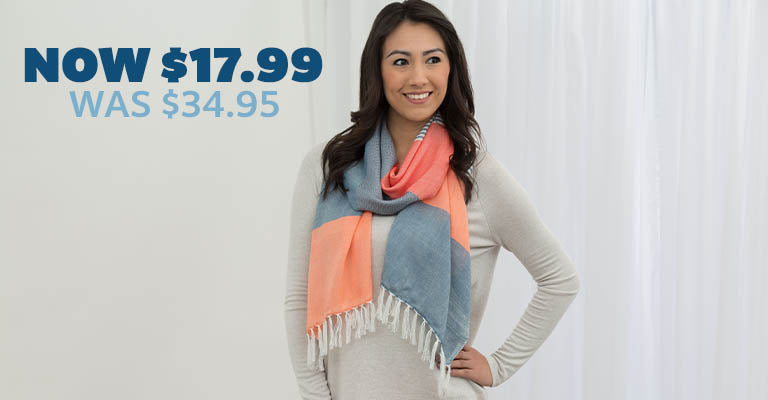 Enchanted Sky Guatemalan Scarf | Was $34.95 | Now $17.99