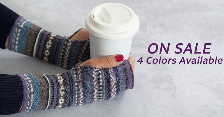 Peruvian Alpaca Wool Fingerless Mittens | On Sale! | 4 Colors Available