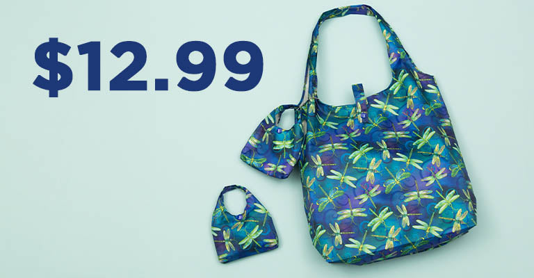 Swirling Dragonflies Packable Shopping Totes - Set of 2 | $12.99