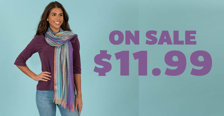 Color Celebration Woven Scarf | On Sale! | $11.99