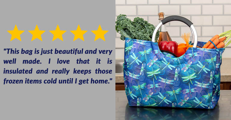 Dragonfly Dream Insulated Shopping Bag | Five Stars