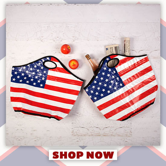 American Flag Insulated Shopping Totes Set - Shop Now