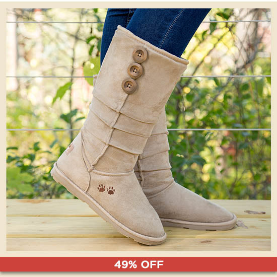 Purple Paw Slouch Boots - 49% OFF