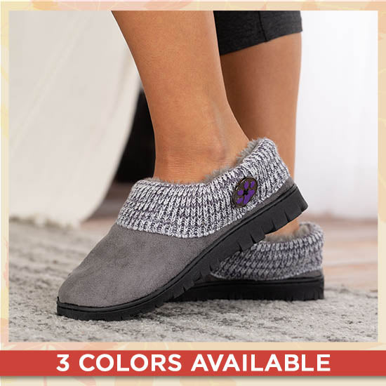 Purple Paw Comfy Clog Slippers - 3 Colors Available