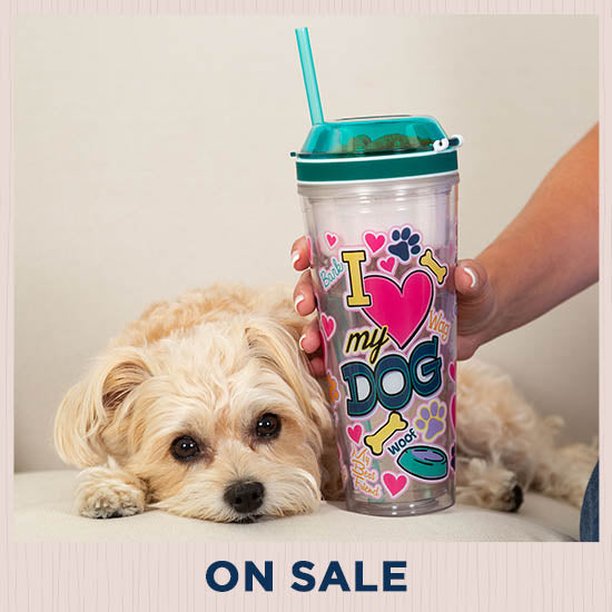 I Love My Dog Drink & Snack Travel Cup - On Sale