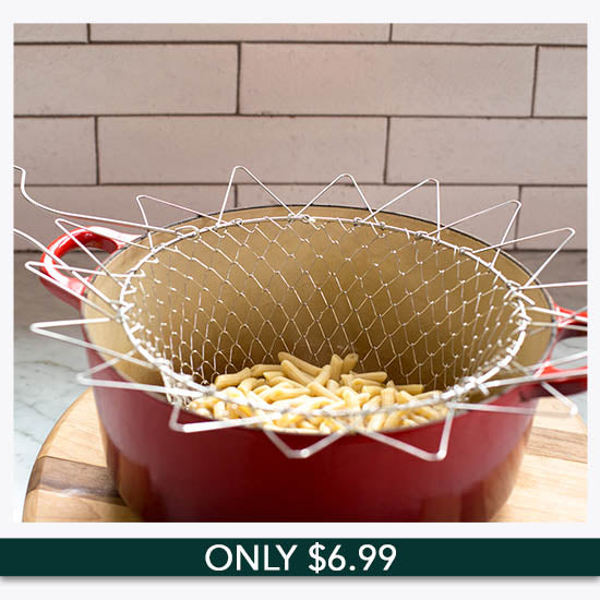 Stainless Steel Chef Basket - Only $6.99